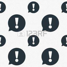 Icono de la muestra del signo de exclamación. Atención discurso símbolo de la burbuja...