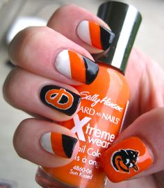 Baltimore Oriole's Nails