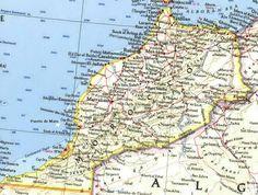 gedetaileerde kaart (Marokko)