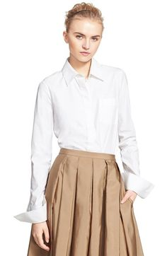 MICHAEL KORS Stretch Cotton Poplin Shirt. #michaelkors #cloth #shirt