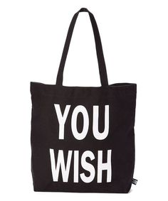 Look at this Black 'You Wish' Cooper Tote on #zulily today!