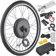 Front/Rear E-Bike Hub motor conversion kit. Dual Mode Controller: Motor works under Hall effect and non-Hall effect.Quiet and reliable Brushless Gearless Hub Motor. Electric Bicycle Kit, Electric Bike Motor, Electric Skateboard, Electric Car, E Bike Kit, Bicycle Engine, Scooter Bike, Motor Works, Custom Choppers
