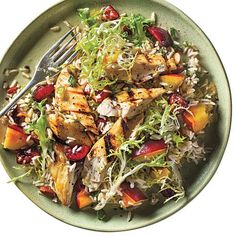 Stone Fruit Chicken-Rice Salad - 300-Calorie Dinners - Cooking Light