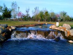 THe Park at RIverwalk, Bakersfield-Uppermost waterfall, north of the east lake.