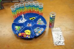 """CREATION REVIEW """"TUBE"""" Each section in the tubed contains items that represent each day of the creation."""