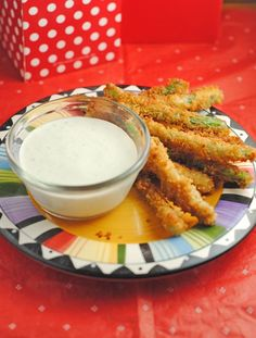 Fried Green Beans with Wasabi Ranch Dip