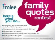 The Family Quote Contest Rules