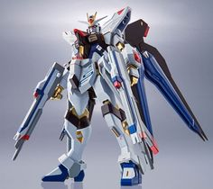 """Coexisting Action & RealityThe most Popular MS """"Strike Freedom Gundam"""" is coming to METAL ROBOT Spirits! With Die-cast, coloring and action, this item packed everything into Size: Destiny Toys, Pokemon Ash Greninja, Metal Robot, Popular Pokemon, Gundam Astray, Complete Image, Gundam Seed, Comic, Anime Toys"""