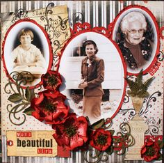 Layout: Your Beautiful Life - Dusty Attic June Sketch Challenge