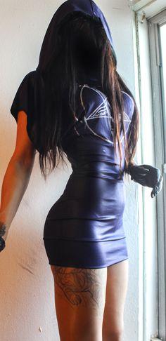 TOXIC VISION EASYWEAR BLUE PENTAGRAM CLOAKED DRESS