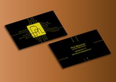 Creative business card for Network Administrator on Behance