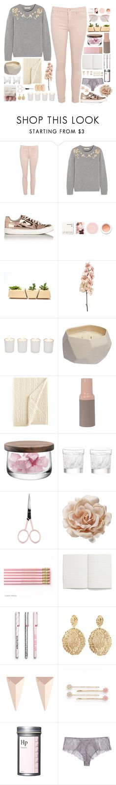 """""""e l i s e"""" by anabelle-grace ❤ liked on Polyvore featuring Vanessa Bruno, Miss Selfridge, Korres, Witchery, Rebecca Taylor, Ralph Lauren, Present Time, LSA International, Lalique and Anastasia Beverly Hills"""