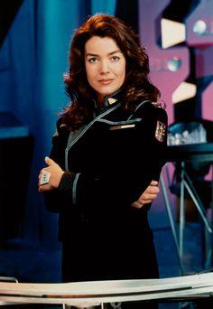 Claudia Christian (as Susan Ivanova, from Babylon 5)