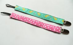 Gift Set Two Pacifier Clip Set by LilTotWonder on Etsy, $12.00