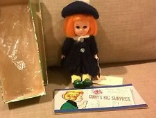 Vintage Ginny Doll Wee Imp. Has tag, box, and cartoon booklet.