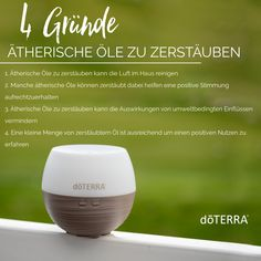 Was zerstäubt ihr zur Zeit am liebsten? Ich habe gerade Citrus Bloom im Diffuser... Doterra, Bloom, Personal Care, Chemical Structure, Cleaning Supplies, Cleaning, First Aid, Deutsch, Personal Hygiene