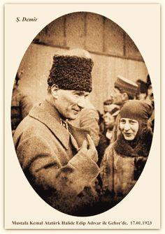Mustafa Kemal Atatürk Halide Edip Adıvar ile Gebze'de. 17.01.1923