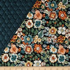 Marblehead Double Sided Quilted Sunflower Blue from @fabricdotcom ... : double faced quilted fabric - Adamdwight.com