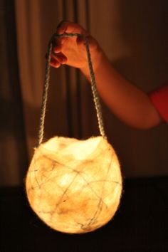 A lovely lantern! Biodegradeable materials too! How to make a felted lantern for martinmas lit waldorf inspired moms