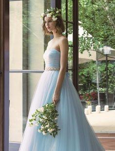 グランマニエ(GRANMANIE) 銀座 【バレーブルー】爽やかなブルーの色合いとチュールの可愛らしさがが引き立つカラードレス