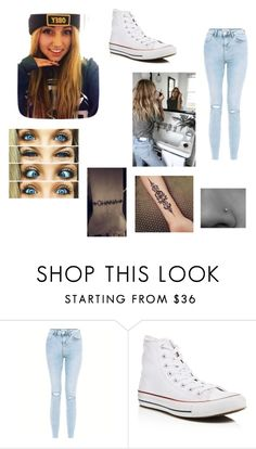 """Untitled #264"" by megannmariee ❤ liked on Polyvore featuring Urban Outfitters, New Look and Converse"