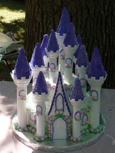 Purple Castle - I made this for my friend's daughters 3rd birthday.  Just the Wilton Castle kit.  I made the flowers in advance using RI instead of fondant though.  TFL!