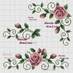 Cross stitch Embroidery Pattern for Tablecloth, Napkin. Format x Only 1 booklets of your choice. Cross Stitch Boarders, Cross Stitch Heart, Cross Stitch Flowers, Cross Stitch Designs, Cross Stitching, Cross Stitch Embroidery, Embroidery Patterns, Hand Embroidery, Cross Stitch Patterns