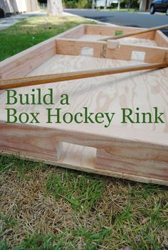 OMG!  I remember playing Box Hockey for hours on Kipling Street!  A Papa Gary cottage project for Caden and they big boys and girls!  Rules:  http://en.wikipedia.org/wiki/Box_hockey