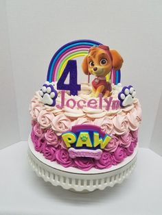 Throw an exceptional get-together for your children's birthday party with these 7 fascinating paw patrol party ideas. The thoughts must be convenient to those who become the true fans of Paw Patrol show. Girls Paw Patrol Cake, Skye Paw Patrol Cake, Paw Patrol Birthday Girl, Paw Patrol Cupcakes, Paw Patrol Party, Birthday Party Games, Birthday Cake Girls, Birthday Gifts For Kids, Birthday Cupcakes