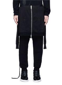 UNRAVEL Hoodie overlay drop crotch knit pants. #unravel #cloth #pants