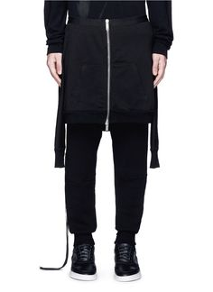 UNRAVEL Hoodie overlay drop crotch knit pants. #unravel #cloth #pants