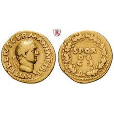 Römische Kaiserzeit, Vitellius, Aureus 69, ss: Vitellius 69. Aureus 20 mm 69 Rom. Kopf r. mit Lorbeerkranz A VITELLIVS GERMAN IMP TR… #coins