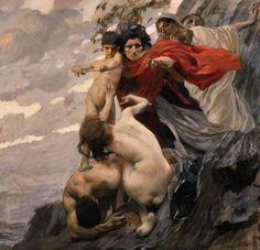 Ettore Tito - Amore e le Parche - 1909