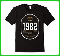 Mens Vintage 1982 Birthday Gift Idea T Shirt Small Black - Birthday shirts (*Amazon Partner-Link)