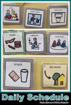 This is a good idea for certain children with special needs.  I subbed in a PPCD class and they used this system with one of the students.  It seemed to really help them understand the schedule and what they were going to do next. 8973