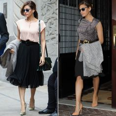 Eva Mendes Goes Utterly Glam and Shockingly Affordable - Eva Mendes New York and Company line