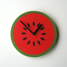 Objectify Fruity Wall Clocks by ObjectifyHomeware on Etsy