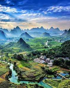 Tag someone you would love to take here Yangshuo, China. Photo by – All Pictures Landscape Photography, Nature Photography, Travel Photography, All Nature, Amazing Nature, Beautiful World, Beautiful Places, Places Around The World, Around The Worlds