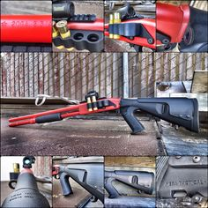 20GA Rem 870 pump-action shotgun equipped with the @mesatactical 12GA Urbino Stock, Lucy Stock Adapter, SureShell Shotshell Carrier and Picatinny Rail.   Did you know? The Lucy Stock Adapter allows you to mount any 12 gauge buttstock onto the 20 gauge Rem 870. Learn more at www.mesatactical.com   #mesatactical #20gauge #remington #rem870 #12gauge #urbinostock #sureshellcarrier #dailybadass #tactical #comeandtakeit #molonlabe #igmilitia #redcerakote #madeinusa #dontthreadonme #sh Mesa Tactical, Tactical Shotgun, Pump Action Shotgun, Airsoft Guns, Shotguns, Tactical Accessories, Come And Take It, Molon Labe, Picatinny Rail