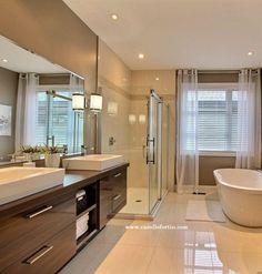 Small bathtub: inspiring models and photos - Home Fashion Trend Modern Bathroom Design, Bathroom Interior Design, Home Interior, Bath Design, Bathroom Designs, Budget Bathroom, Small Bathroom, Bathroom Ideas, Hotel Bedroom Design