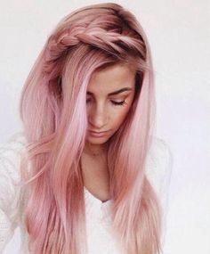 Pink hair with dark roots