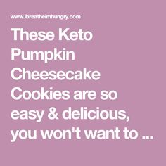 These Keto Pumpkin Cheesecake Cookies are so easy & delicious, you won't want to waste your pumpkin on any other recipe this season! Cheesecake Cookies, Pumpkin Cheesecake, Cookie Dough Ingredients, Almond Flour Cookies, Cinnamon Cream Cheeses, Magic Bullet, Cream Cheese Filling, Vegetarian Cheese, Pumpkin Puree