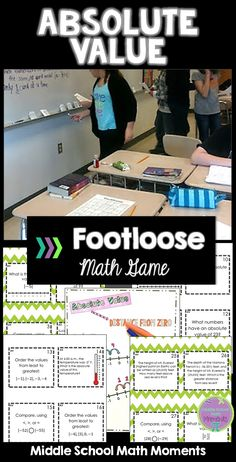 Looking for a fun way to practice absolute value concepts? Keep your students engaged and practicing with Absolute Value Footloose!