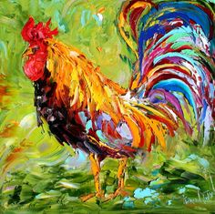 oil painting still life fine artists Rooster Painting, Rooster Art, Painting Gallery, Fine Art Gallery, Animal Paintings, Art Paintings, Portrait Paintings, Acrylic Paintings, Modern Impressionism