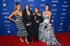 Jeannie Mai Photos Photos - Amanda Seales, Tamera Mowry-Housley, Adrienne Houghton, and Jeannie Mai attends the 51st NAACP Image Awards non-televised Awards Dinner on February 21, 2020 in Hollywood, California. 51st NAACP Image Awards - Non-Televised Awards Dinner - Arrivals Tia And Tamera Mowry, A Bikini A Day, Jeannie Mai, White Crop Top Tank, Movie Teaser, In Hollywood, Hollywood California, Prom Dresses, Formal Dresses