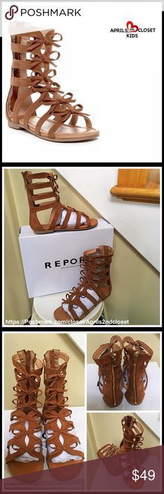 ❗️1-HOUR SALE❗️ Gladiator Sandal Boots NEW WITH BOX RETAIL PRICE: $65 AMAZING STYLE!  Gladiator Sandal Boots  * Caged faux leather construction  * Back zip closure  * Open Toe; Elastic inset shaft straps  * Tacked bows design from vamp to shaft  * Ballet flat sole; Lightly padded footbed  Fabric: PU & fabric upper, manmade sole Color: TanItem#B93100  🚫No Trades🚫 ✅ Offers Considered*✅ *Please use the blue 'offer' button to submit an offer. Report Collection Shoes Sandals & Flip Flops