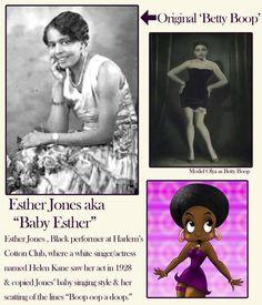 """The Original """"Betty Boop"""" - """"Baby Esther"""" Jones Original Betty Boop, The Real Betty Boop, Black Betty Boop, Esther Jones, Baby Esther, Jones Baby, Baby Singing, Betty Boop Cartoon, Spiritus"""