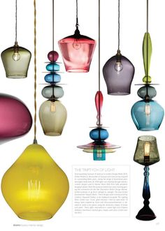Colorful pendant light inspiration
