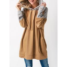 Neckline:Hooded collar Sleeve's Length:Long Sleeve Pattern Type:Patchwork Material:Cotton Blend Clothing's Length:Regular Types:Pullovers