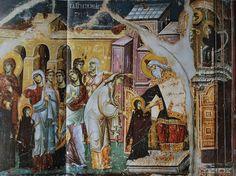 Byzantine Icons, Orthodox Icons, Fresco, Scene, Painting, Virgos, Drawing Drawing, Fresh, Painting Art